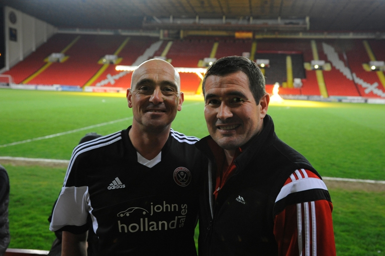 Bramall lane sleepout with Nigel Clough